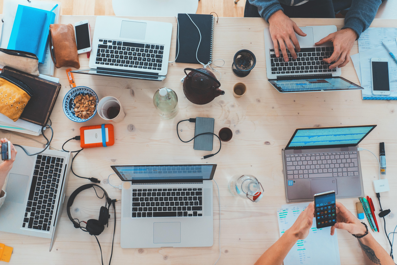 People on a desk